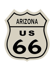 Route 66 sign, Arizona state. High resolution illustration