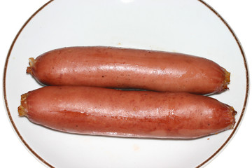 Sausages on the plate