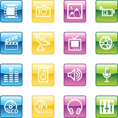 aqua media icons
