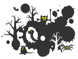 Black monsters background