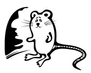 Black-and-white mousy
