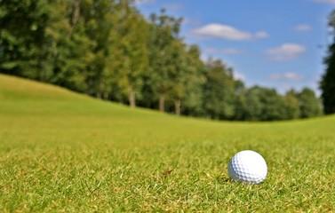 Balle de golf sur le fairway