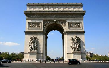 paysage de paris , l'arc de triomphe