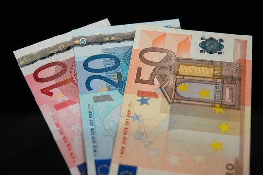 Bank notes euros