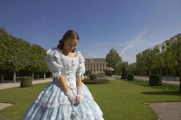 beautiful woman in royal dress