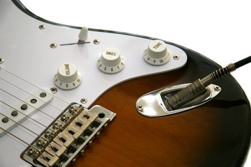 guitar with cord