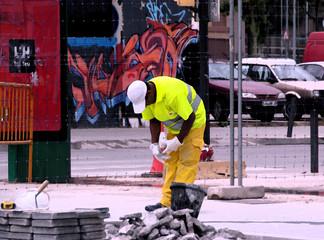 Bauarbeiter - Malerei