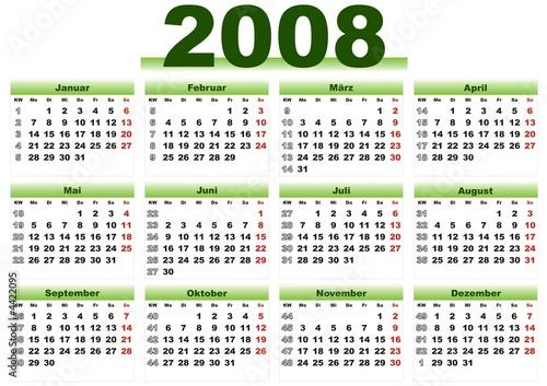 kalender 2008  kalender