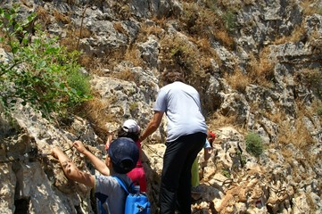 Galilee landscape - hiking with children