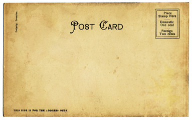 Old Mottled Postcard