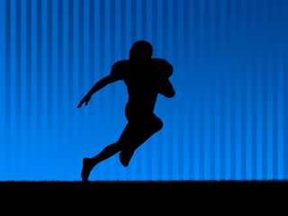 american football background blue