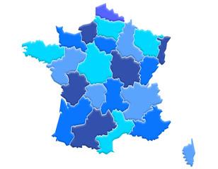 Carte France Camaieu Bleu