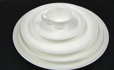 white dish and cup of ceramic in 2008 China fair