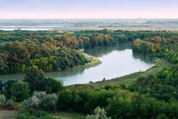 Morning on Kuban river