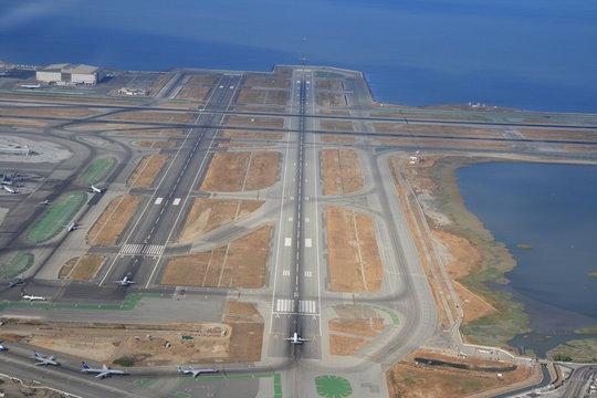 SFO Airport Runway