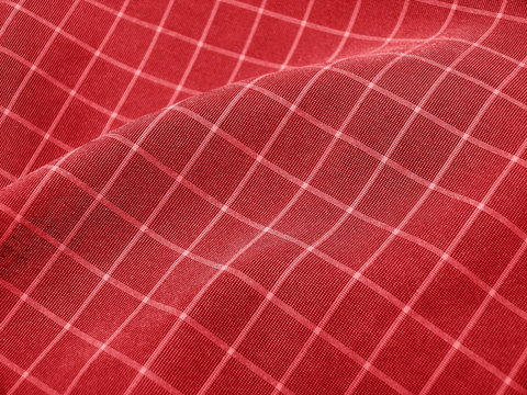 Checkered deep red fabric. Ideal for Christmas background.