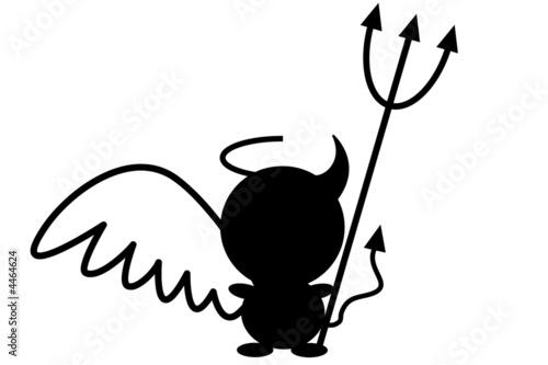 Ange d mon noir photo libre de droits sur la banque d 39 images image 4464624 - Dessin de demon ...