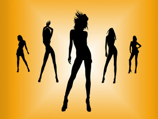 Five sexy girls