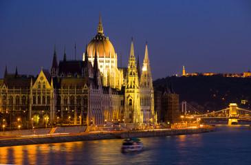 Aluminium Prints Budapest budapest at night