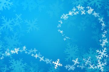 Swirling snowflakes