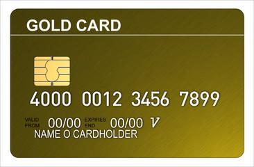 Credit card gold