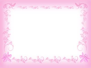 Vintage Pink Floral Frame