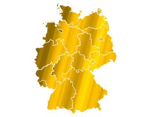 Carte Allemagne Or