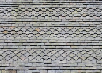 Patterned Tiles on a Church Roof