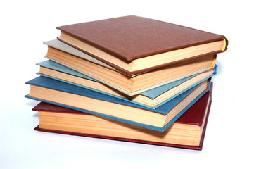 Isolated books on a white background.