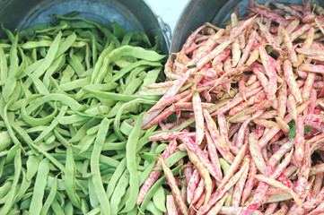 Green beans at a local market.