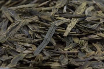 green tea macro view