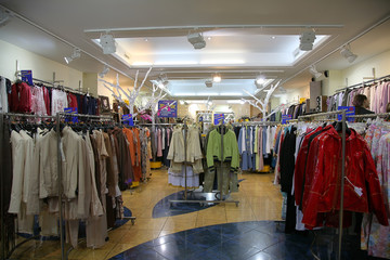 clothing department in the trade center