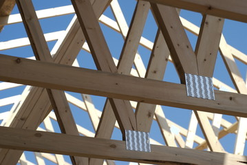 New home construction:  roof rafters