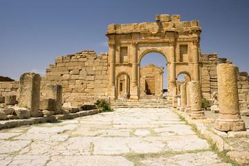 Keuken foto achterwand Tunesië Arch leading to the temples of Sufetula, Tunisia