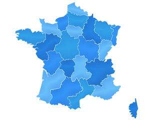Carte France Camaieu Bleu2