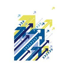 Blue arrows background design