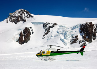 heli-ski helicopter