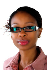 African business lady glasses