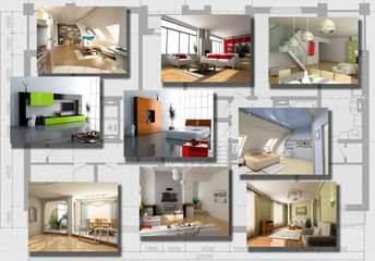 modern interior image set