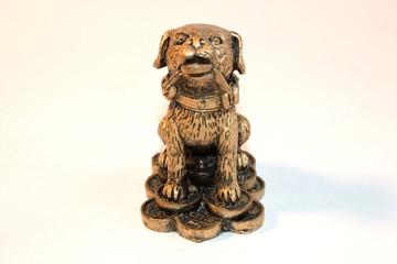 statuetka, dog, money