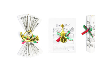 Christmas Ornaments on Music Scores