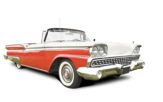 isolated american 50s car