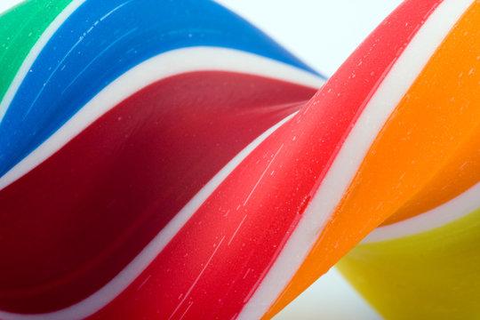 Closeup candy lollipop