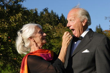 Älteres Paar hat Spass