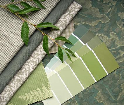 Earth tone interior design plan