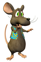 """Cartoon Mouse - """"Oh No"""" expression"""