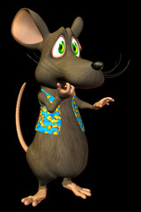 "Cartoon Mouse - ""Oh No"" expression - black . 1"