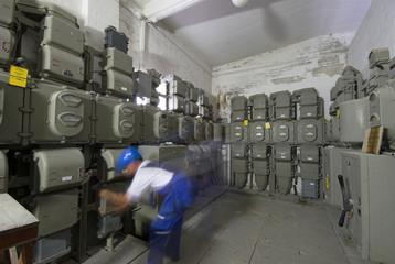 Electrician inside power station