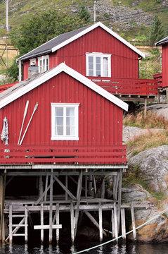 Norwegian houses, Lofoten islands