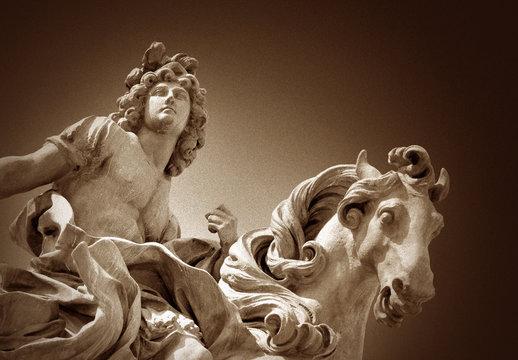 Statue of Louis XIV at the Louvres, Paris